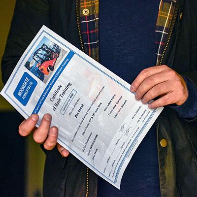 Forklift Driver Training Test Certificate