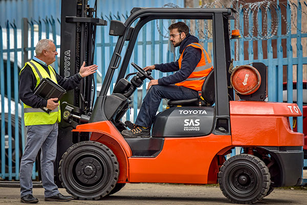 Forklift Training In A Courtyard