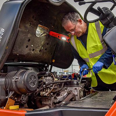 Forklift Truck Repairs Under Hood