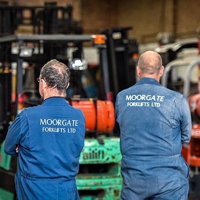 Moorgate Staff Wearing Branded Uniform