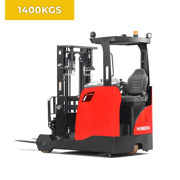 HC Forklifts 3 Wheel 1400KG Reach Truck