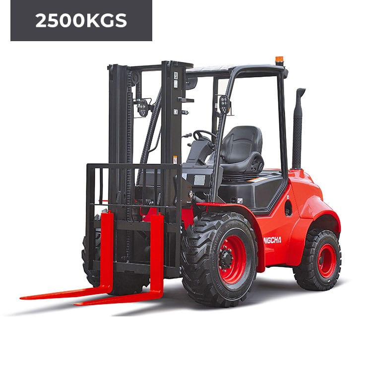 HC Forklifts 2 Wheel Rough Terrain 2500KG Forklift Truck