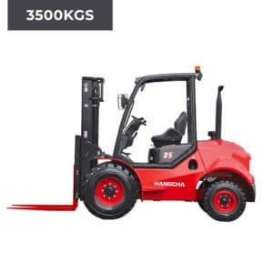 HC Forklifts 2 Wheel Rough Terrain 3500KG Forklift Truck