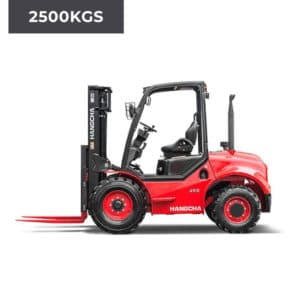 HC Forklifts 4 Wheel Rough Terrain 2500KG Forklift Truck