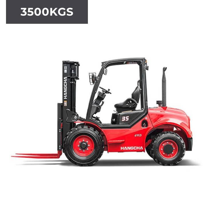 HC Forklifts 4 Wheel Rough Terrain 3500KG Forklift Truck