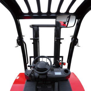 Inside View Of HC Forklifts 4 Wheel Rough Terrain 3500KG Forklift Truck