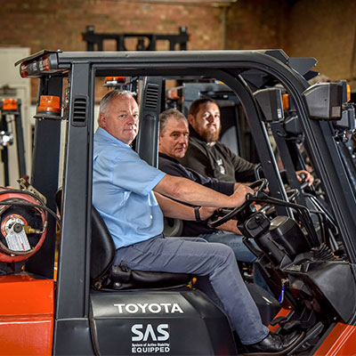 Moorgate Staff Sitting In Forklifts
