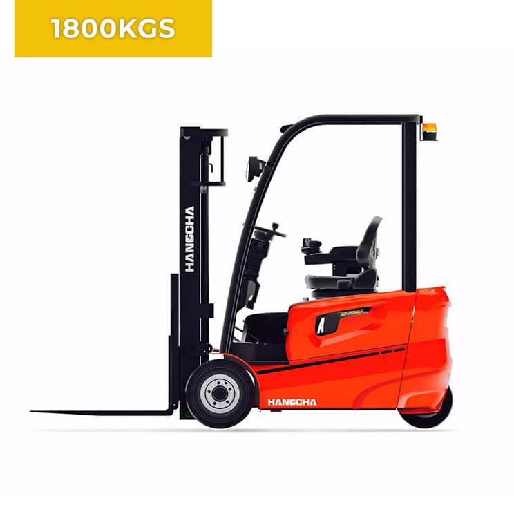 HC Forklifts A Series 3 Wheel 1800KG Electric Forklift Truck