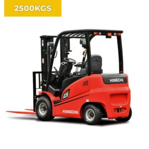 HC Forklifts A Series 4 Wheel 2500KG Electric Forklift Truck