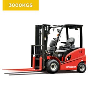 HC Forklifts A Series 4 Wheel 3000KG Electric Forklift Truck
