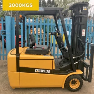 Caterpillar EP20KT 3 Wheel 2000KG Electric Forklift Truck