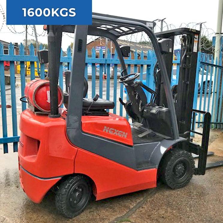 Nexen FGX16 4 Wheel 1600KG LPG Forklift Truck