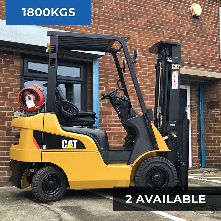 Caterpillar GP18NT 1800KG LPG Forklift Truck (Two Available)